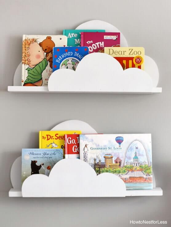 A CLOUDY DAY WOODEN BOOKSHELF DESIGN IDEAS