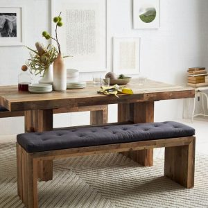 EMMERSON RECLAIMED WOOD DINING TABLE AND BENCH