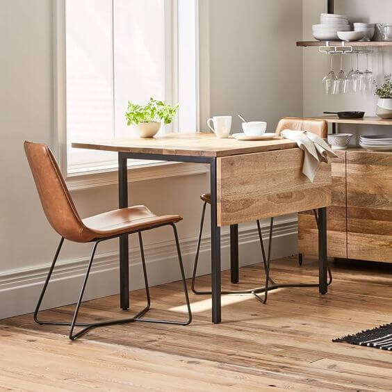 EXPANDABLE RECLAIMED WOOD DINING TABLE DESIGN IDEAS