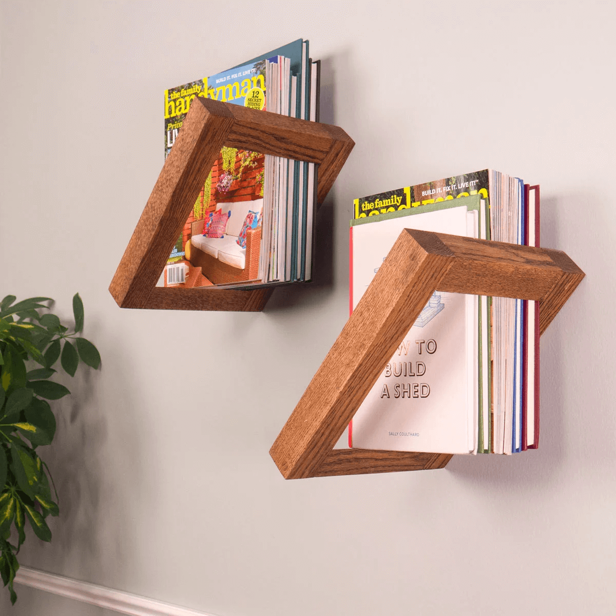 FLOATING WOOD BOOKSHELF DESIGN IDEAS