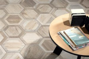 HEXAGON SHAPED FLOOR TILE IDEAS
