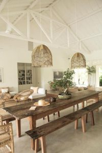 LIGHT AND EASY RECLAIMED WOOD DINING TABLE DESIGN IDEAS