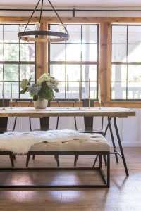 MIX MODERN RUSTIC STYLE RECLAIMED WOOD DINING TABLE DESIGN IDEAS