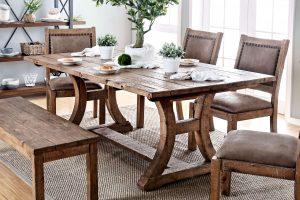 RECLAIMED DINING ROOM TABLE DESIGN IDEAS MATTHIAS INDUSTRIAL RUSTIC PINE