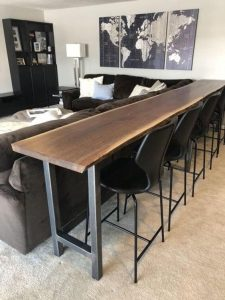 RECLAIMED WOOD BAR DINING TABLE AND CHAIR