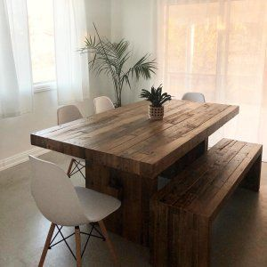 RECLAIMED WOOD DINING ROOM TABLE THE CHESTNUT FINISH