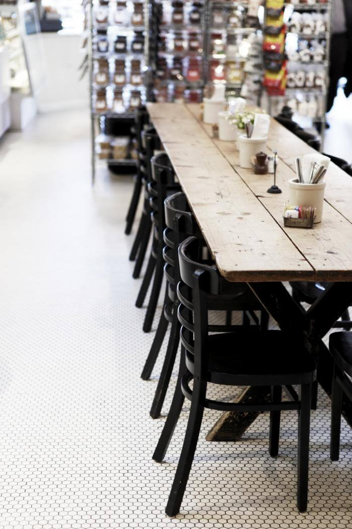 RECLAIMED WOOD DINING TABLE COMMUNAL LOOK