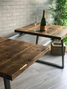 RECLAIMED WOOD EXTENSION DINING TABLE