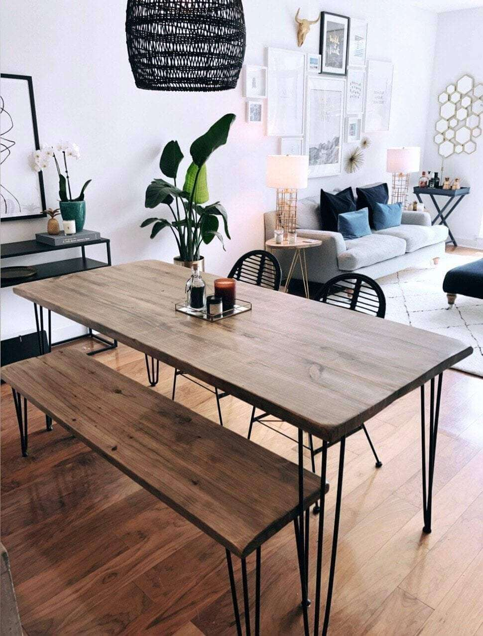 SMOOTH SURFACE RECLAIMED WOOD DINING ROOM TABLE DESIGN IDEAS