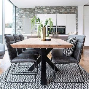 SPIDER LEGS ROCCO INDUSTRIAL OAK RECLAIMED WOOD DINING TABLE DESIGN IDEAS