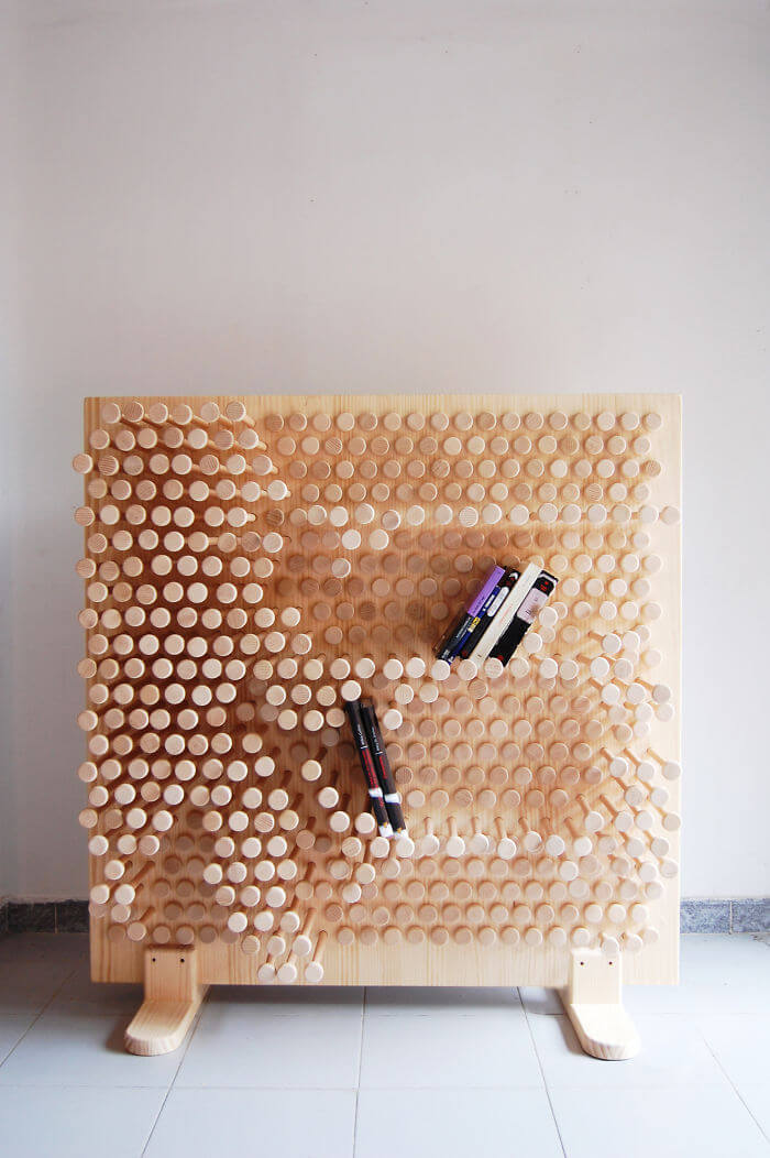 THE PIN PRESS WOODEN BOOKSHELF DESIGN IDEAS