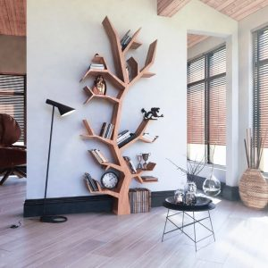 THE TREE OF LIFE WOOD BOOKSHELF DESIGN IDEAS