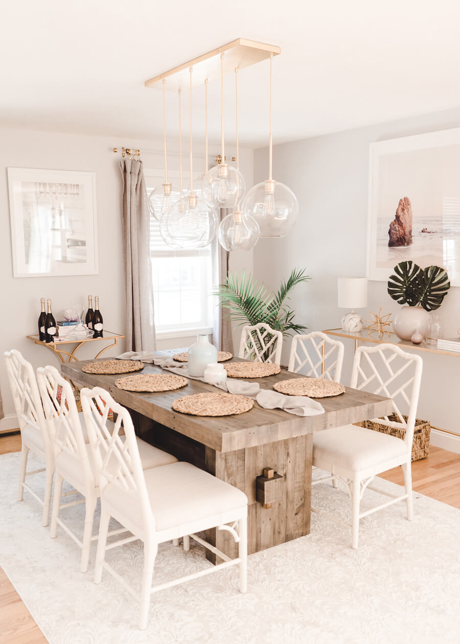 THICK AND RUSTIC RECLAIMED WOOD DINING ROOM TABLE IDEAS