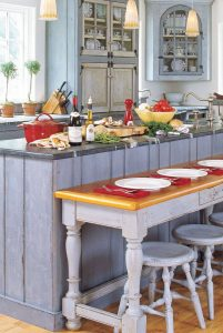 FRENCH COUNTRY WOOD KITCHEN CABINET DESIGN IDEAS