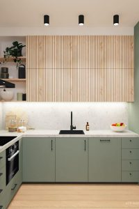 MODERN AND NATURAL STYLE WOOD KITCHEN CABINET DESIGN IDEAS