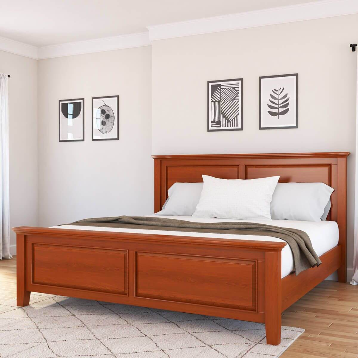 MAHOGANY WOOD BED FRAME IDEAS