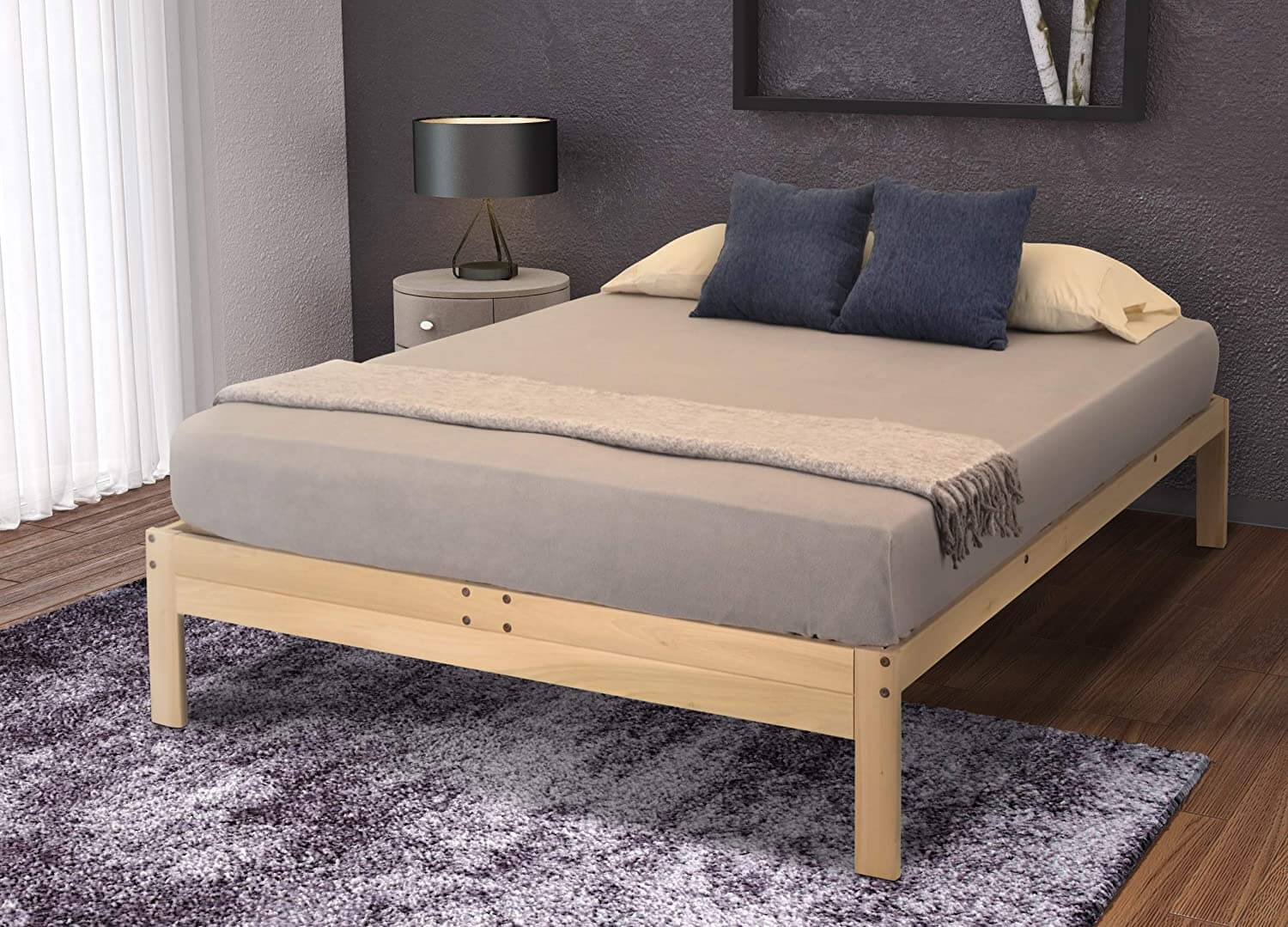 POPLAR WOOD BED FRAME DESIGN IDEAS