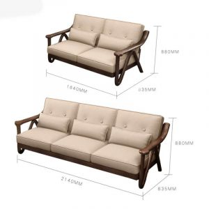 FIT THE MEASUREMENT TO CHOOSE WOODEN SOFA IDEAS