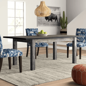 KATARINA EXTENDABLE SOLID WOOD DINING TABLE