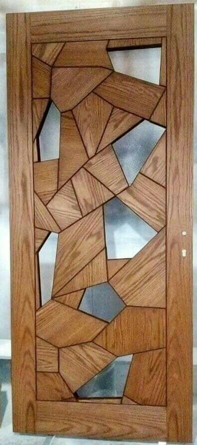 WOODEN DOOR ENTRANCE ABSTRACT DESIGN IDEAS