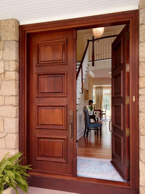 WOODEN DOOR ENTRANCE PANEL DESIGN IDEAS