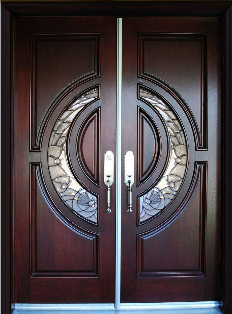 WOODEN DOUBLE DOOR ENTRANCE DESIGN IDEAS