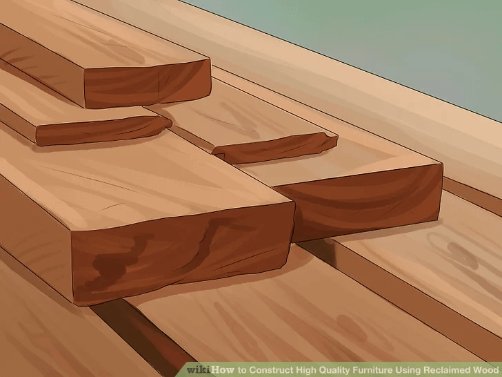 BUILD RECLAIMED WOODEN DINING TABLE STEP BY STEP