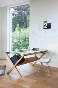 COVET WOOD DESK WITH DRAWERS FOR HOME OFFICE