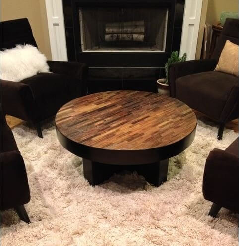 HANDCRAFTED FROM RECLAIMED WOOD COFFEE TABLE IDEAS