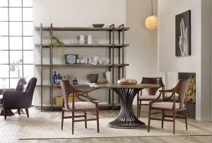 INDUSTRIAL STYLE ROUND WOOD DINING TABLE IDEAS