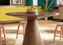 MID CENTURY ROUND WOOD DINING TABLE IDEAS