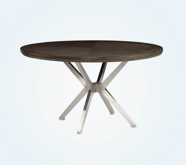 ROUND GREY COLORED WOOD DINING TABLE DESIGN IDEAS