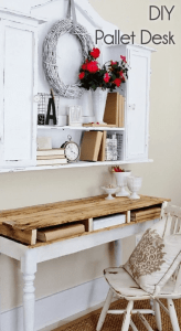 Rustic Pallet Wood Desk with Drawers