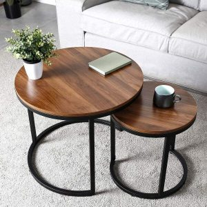 SOLID WOOD NESTING COFFEE TABLE DESIGN IDEAS