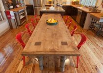 STEP BY STEP ON MAKING A RECLAIMED WOOD DINING TABLE