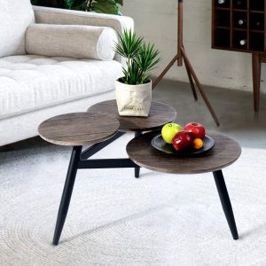 Trio Table Top Rustic Coffee Table