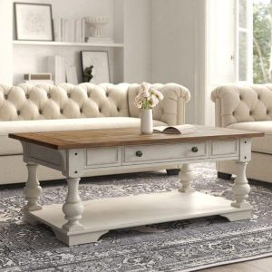 WHITE SOLID WOOD COFFEE TABLE DESIGN IDEAS