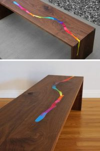 CRAYON WOOD AND RESIN TABLE