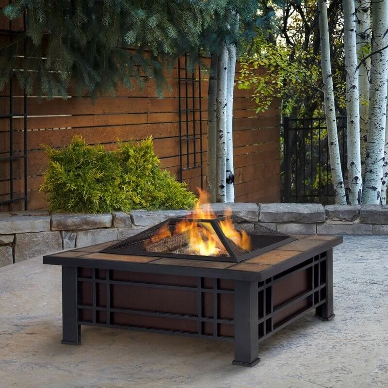 MORRISON STEEL WOOD BURNING FIRE PIT PROPANE TABLE OLD TOUCH
