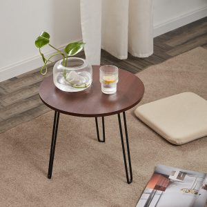 NICE ROUND WOOD AND METAL COFFEE TABLE DESIGN IDEAS
