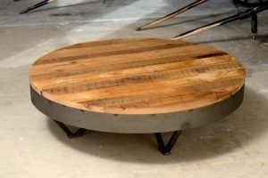 ROUND WOOD AND METAL COFFEE TABLE AVOID STIFFNESS