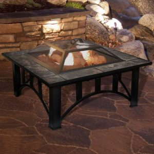 WOOD BURNING FIRE PIT STEEL TABLE