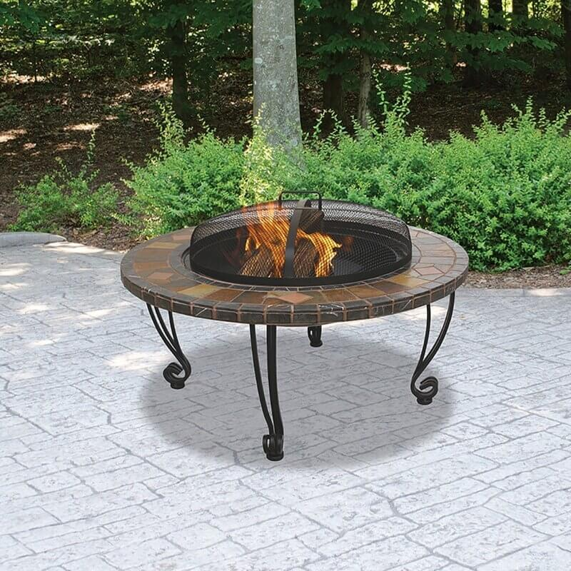 WOOD BURNING FIRE PIT TABLE MEDITERRANEAN THEME