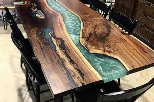 CONTEMPORARY AND RUSTIC NATURAL WOOD DINING TABLE IDEAS