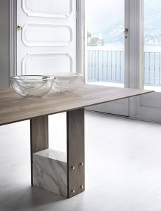 COMBINATION MARBLE AND WOOD DINING TABLE DESIGN IDEAS