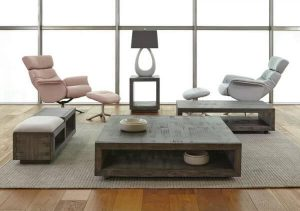 CONTEMPORARY SQUARE WOODEN COFFEE TABLE