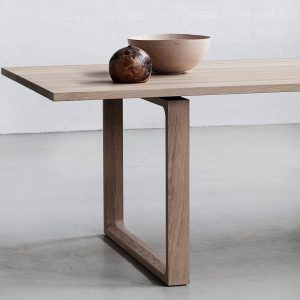FRAMES LEG CONTEMPORARY NATURAL WOOD DINING TABLE