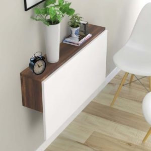 MULTI PURPOSE MOUNTED NATURAL WOOD DINING TABLE