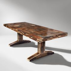 NATURAL WOOD DINING TABLE PUZZLE DESIGN IDEAS