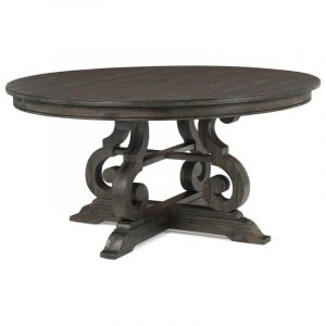 ROUND NATURAL WOOD DINING TABLE DESIGN IDEAS